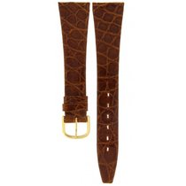 SWISS BROWN CROCODILE VERITABLE LEATHER STRAP 20MM/14MM