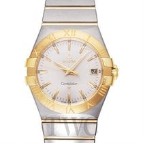Omega Constellation Quartz Silver Steel/18k Yellow Gold 35mm -...