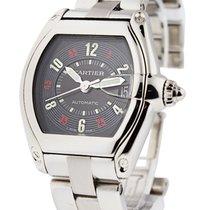 Cartier W62002V3 Roadster Mens Automatic - Steel on Bracelet...
