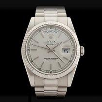 Rolex Day-Date 18k White Gold Unisex 118239