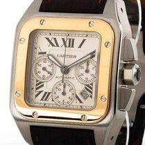 까르띠에 (Cartier) Santos 100 XL Chronograph Stahl/Gold Ref. W20091X7