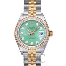 롤렉스 (Rolex) Lady Datejust Mint Green Steel/18k Yellow Gold Dia...
