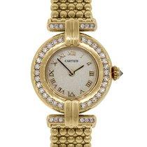 Cartier Rivoli 18k  Gold Diamond Bezel Ladies Watch