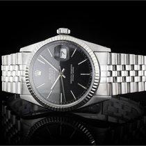 Rolex Datejust (36mm) Ref.: 16014 mit schwarzem Zifferblatt,...