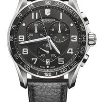 Victorinox Swiss Army CHRONO CLASSIC XLS Dial Black Leather...