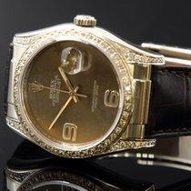 Rolex Datejust 750/000 Wg Diamonds Ref 116139