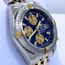 Breitling Chronomat Evolution B13356 18k Yellow Gold /ss...