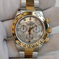Rolex Cosmograph Daytona 40mm white mother of pear diamond...