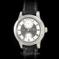 L.Leroy Marine Automatic Deck Chronometer 18K White Gold Power...