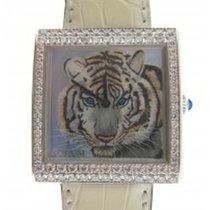 Corum 138.182.69 Artisan Buckingham Tiger -2 Row in White Gold...