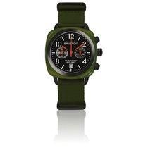 Briston Clubmaster Chrono Date Vert Militaire cadran noir mat