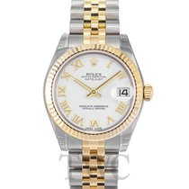 ロレックス (Rolex) Datejust Midsize White/18k gold Ø31mm - 178273