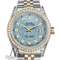 Rolex Stainless Steel And Gold 36mm Datejust Watch Jubilee Ice...