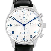 IWC Portuguese Chrono Automatic Steel Mens Watch Iw371417