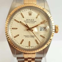 Rolex oyster perpetual datejust 16013 gold and steel 1985