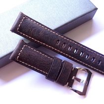 Handmade Bodhy 24/22mm Vintage Brown leather band - 24mm Strap...
