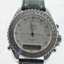 Breitling Pluton Herren Uhr Stahl/stahl 42mm A51038 Vintage...