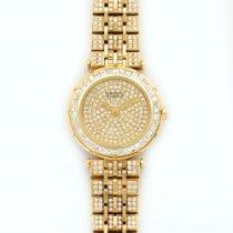 Van Cleef & Arpels Yellow Gold Baguette Diamond Watch