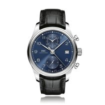 IWC Portugieser Automatic Stainless Steel Blue Dial Mens Watch...