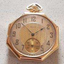 Elgin 11. Octagonal Elgin - Art Deco gold tailcoat watch - USA...