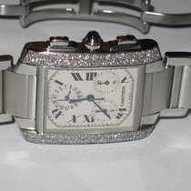 Cartier Tank Francaise Chronograph Diamonds