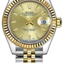 ロレックス (Rolex) Lady Datejust 28mm Stainless Steel and Yellow...