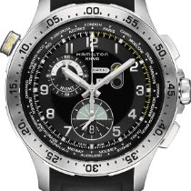 Hamilton Khaki Worldtimer chrono quartz H76714335 Sportliche...