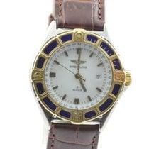 Breitling Lady J Damen Uhr Stahl/gold D52065 Gold Lünette...
