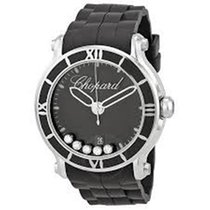 Chopard 288525-3005 Happy Sport Round Quartz Watch - Black...