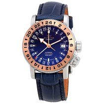Glycine Airman 18 GMT Blue Dial Automatic Men's Watch