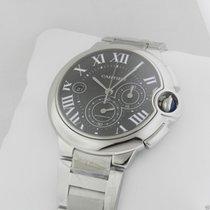 Cartier w6920077 Ballon Bleu Black Dial Chronograph Stainless...