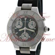 Cartier Must 21 Chronoscaph, Black Double C Motif Dial -...