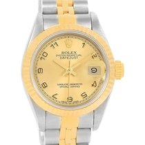 Rolex Datejust Steel 18k Yellow Gold Automatic Ladies Watch 69173