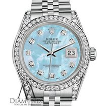 Rolex Ladies Rolex Datejust 36mm Stainless Steel Baby Blue Mop...