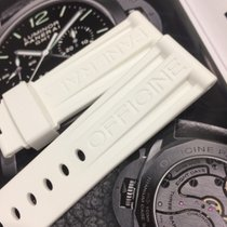 White Rubber band for panerai 44mm Rubber band / strap 24/22mm...