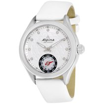 Alpina Alpiner White Dial White Leather Strap Ladies Watch...
