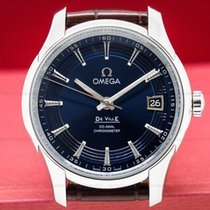 Omega 431.33.41.21.03.001 De Ville Co-Axial Hour Vision Blue...