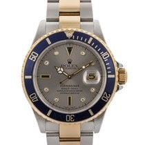 Rolex Submariner Date Sultan Dial Con Diamanti 40mm In Acciaio...