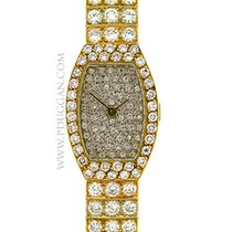 Van Cleef & Arpels 18k yellow gold ladies diamond wristwatch