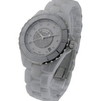 Chanel H1759 Full Size J12 with Pave Diamond Dial H1759 -...
