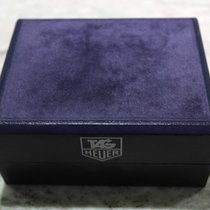 TAG Heuer vintage watch box leather blu rare