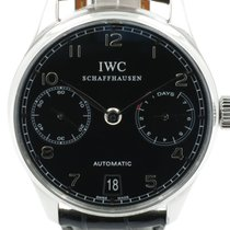 "IWC ""Portugieser 7 Days Automatic"" Black colored dail."
