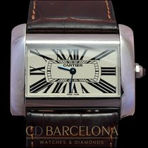 Cartier Tank Divan XL steel 2006 .38mm Box & Papers