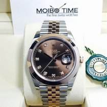 Rolex Datejust II Everose Gold Steel Choco Brown Diamonds 41mm