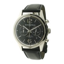 Bell & Ross Officer 126 Steel Black/Leather