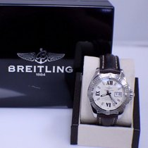 Breitling Galactic Stainless Steel Cockpit Watch A49350 Box...