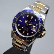 Ρολεξ (Rolex) Submariner 16613 Date Blue 18K Gold Steel