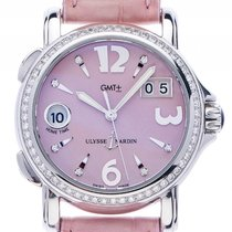 Ulysse Nardin San Marco GMT Big Date Lady Stahl Diamond...