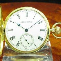 J.ullmann & Co 18kt Gold Savonette Sprungdeckel Taschenuhr...