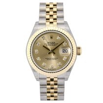Rolex Lady-Datejust 28 Champagne Diamond Dial 279173